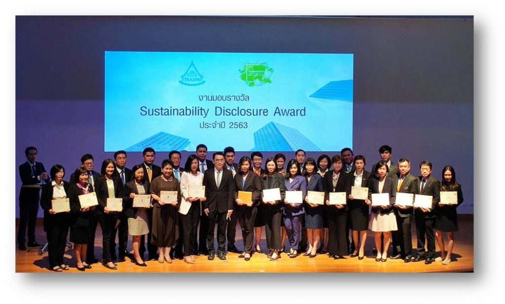 TSTH wins Sustainability Disclosure Award 2020